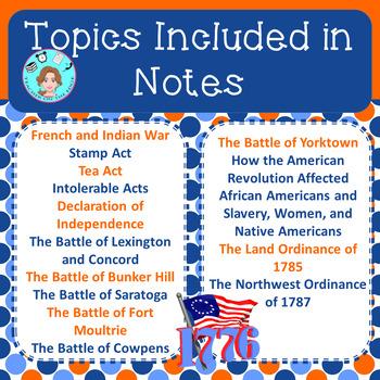 American Revolution Bundle – Upper Elementary – No Prep, Print & Go