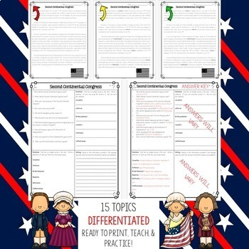 American Revolution Bundle Vol. 2 {Differentiated Reading Passages & Questions}