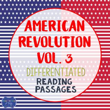 American Revolution Bundle Vol. 3 {Differentiated Reading