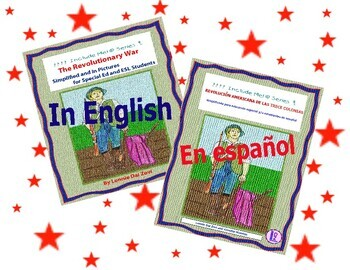 American Revolution Bundle in Spanish and English for Special , dual, ESL Ed.