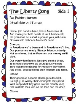 American Revolution CLOSE Read Using Song Lyrics: The Liberty Song