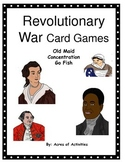 American Revolution Card Games (Old Maid, Concentration an