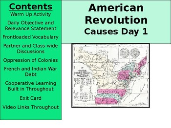American Revolution - Causes Day 1