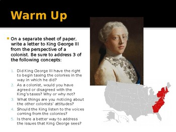 American Revolution - Causes Day 2
