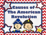 American Revolution: Causes - PPT, Structured Notes, Quiz, and Activity