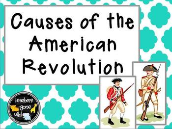 American Revolution Causes PowerPoint and Chart