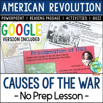 Causes  of the American Revolution, Causes of the US Revolutionary War