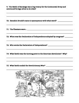 AMERICAN REVOLUTIONARY WAR (GRADES 5 - 8)  CAUSES, PROJECT, TEST AND MUCH MORE!