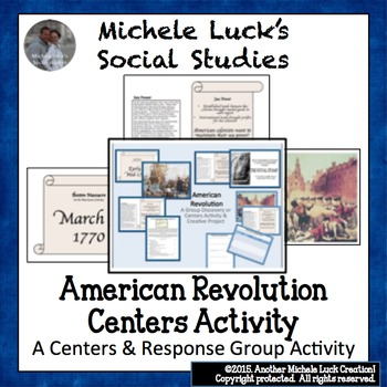 American Revolution Centers Investigation & Project Assignment Activity