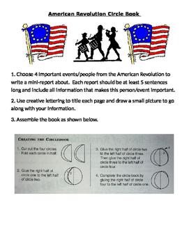 American Revolution - Circle Book Report