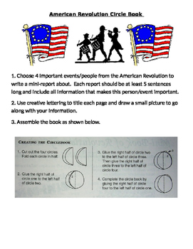 American Revolution - Circle Book Report