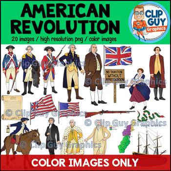 American Revolution Clip Art Bundle - COLOR IMAGES ONLY {Clip Guy Graphics}