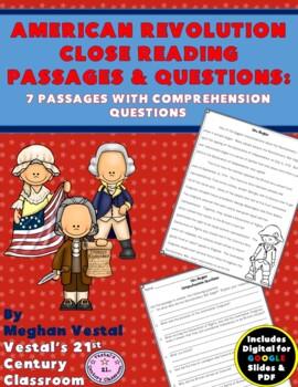 American Revolution Close Reading Passages