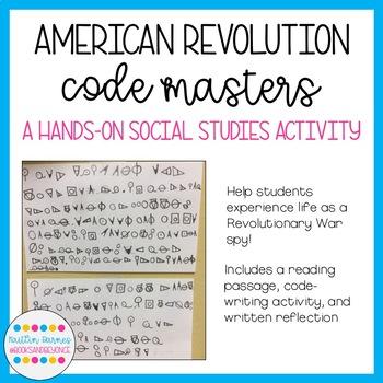 American Revolution Code Masters Activity: Spy Techniques