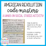 American Revolution Code Masters Activity: Spy Techniques