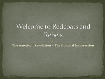 American Revolution - Colonial Insurrection