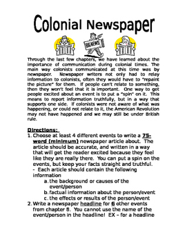 American Revolution: Colonial Newspaper Project - Reporting the Revolution