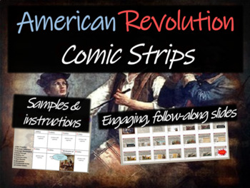 American Revolution Comic Strip Activity: visually engagin