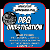 DBQ American Revolution Common Core Document Based Question Activity