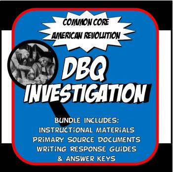 DBQ American Revolution Common Core Document Based Question Activity