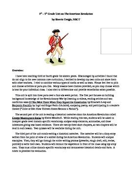 American Revolution Common Core Integrated Unit Part 1