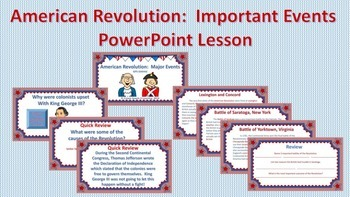 American Revolution:  Complete Bundle PPTs, Structured Notes, Quizzes