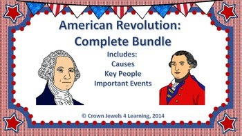 American Revolution:  Complete Bundle PPTs, Structured Not