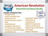 American Revolution PowerPoint and Notes Bundle