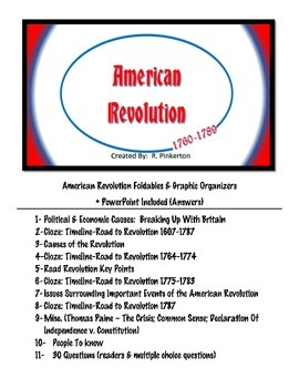 American Revolution COMPREHENSIVE Review