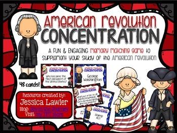 American Revolution Concentration Center Activity