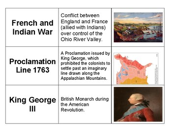 American Revolution Connection Cards