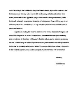 American Revolution Content Paper