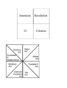 American Revolution:  Cootie Catcher