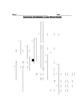 American Revolution Crossword Puzzle