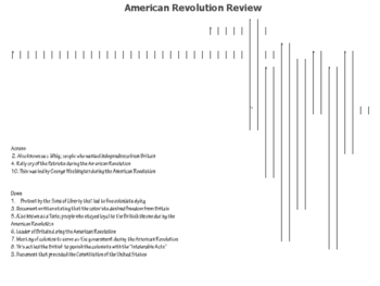 American Revolution Crossword and Word Search