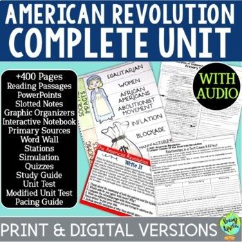 American Revolution Curriculum, US Revolutionary War