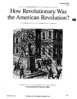 American Revolution: DBQ