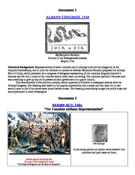 American  Revolution DBQ Document Analysis Practice AP American History