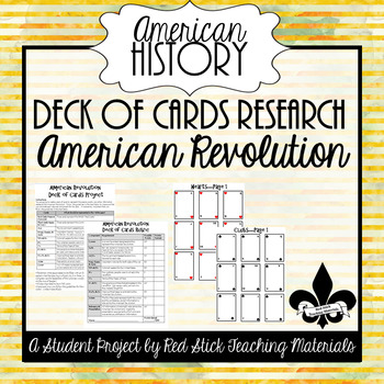 American Revolution Deck of Cards Project--No PREP!