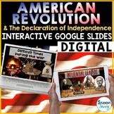 American Revolution & Declaration of Indepedence Distance Learning Google Slides