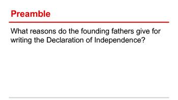 American Revolution - Declaration of Independence