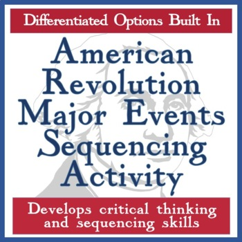 American Revolution Differentiated Sequencing Activity