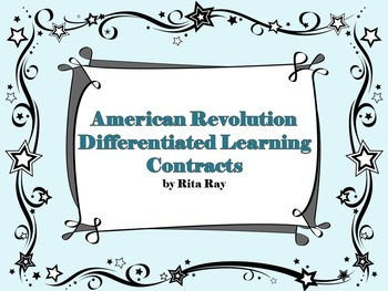 American Revolution Differentiated Learning Technology Contract