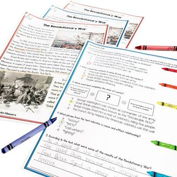 American Revolution Differentiated Reading (Cause & Effect)