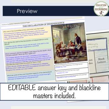 American Revolution Digital Interactive Notebook for Google Drive