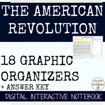 American Revolution Digital Interactive Notebook 4 Google Drive