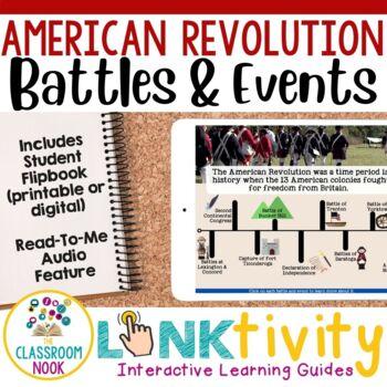 Link & Think Digital Guide - American Revolution {Google Classroom Compatible}