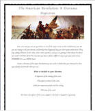 American Revolution Diorama Project, Presentation and Time