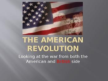 American Revolution Docs and PPT Slideshows