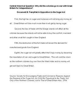 American Revolution Document Based Assessment